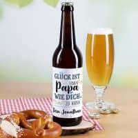 Glück ist, einen Papa wie dich zu haben - Bieraufkleber mit Wunschtext