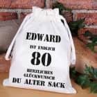 Alter-Sack-Beutel zum 80. Geburtstag