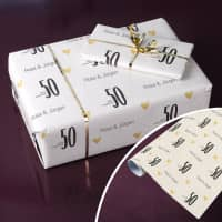 Persönliches Geschenkpapier - 50 Jahre zusammen