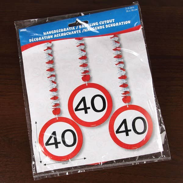 Spiral Dekoration - Verkehrsschild 40