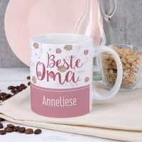 Tasse - Beste Oma - mit Wunschname