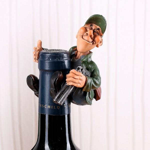 Flaschenaufsatz Jäger mit Gewehr