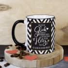 Was für ein Glück - Tasse mit Spruch und Ihrem Wunschtext