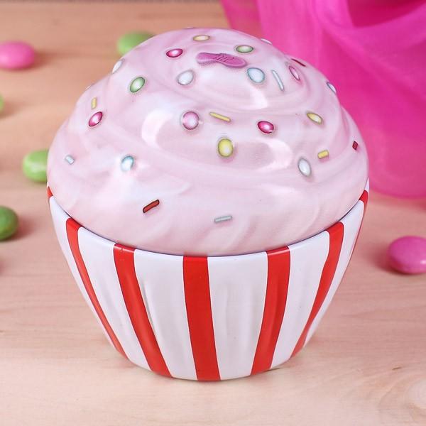 Cupcake Dose mit Streifen