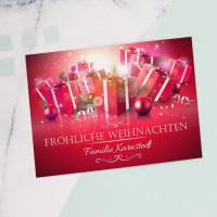 Persönliche Postkarte zu Weihnachten mit Ihren Wunschnamen