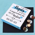 Lindt Mini-Pralinés zum Vatertag mit Ihrem Wunschtext bedruckt