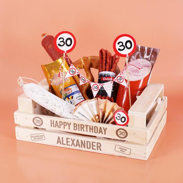 DIY Geldgeschenk - Wurstkorb für Männer zum Geburtstag