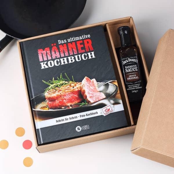 Männer Kochbuch Set mit BBQ Sauce