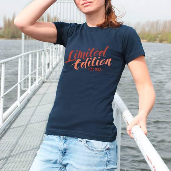 Damen T-Shirt - Limited Edition - mit Jahreszahl