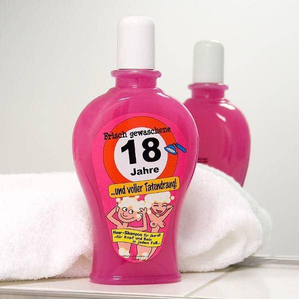 Shampoo zum 18. Geburtstag