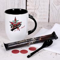 Tasse mit Stern - Für den besten Papa - mit Lindt Stick