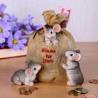 Spar-Sack mit Mäusen