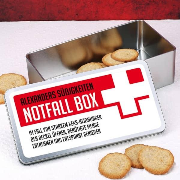 Notfall Box mit Wunschtext
