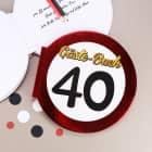 Gäste-Buch Verkehrsschild 40