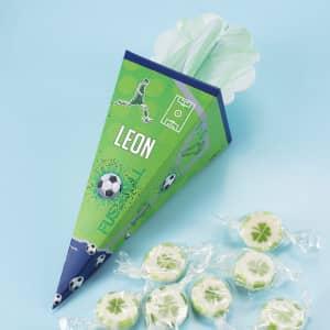 Mini Zuckertüte Fußball mit Name personalisiert