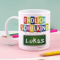 Tasse zum Schulanfang mit Name