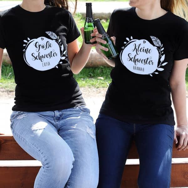 Schwestern T Shirt für kleine, mittlere und große Schwestern