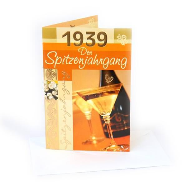 Geburtstagskarte 1939 Der Spitzenjahrgang