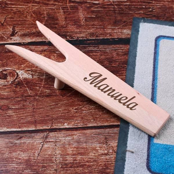Stiefelknecht aus Holz mit Name