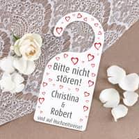 Türhänger - Bitte nicht stören! - zur Hochzeit mit Namen bedruckt