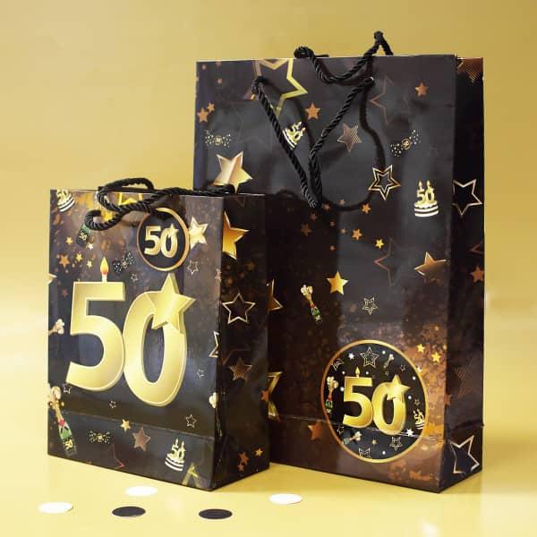 Geschenktaschen zum 50. Geburtstag
