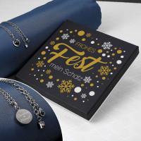 Leonardo Kette mit Perlmutt-Stein mit Wunschgravur und Geschenkbox zu Weihnachten