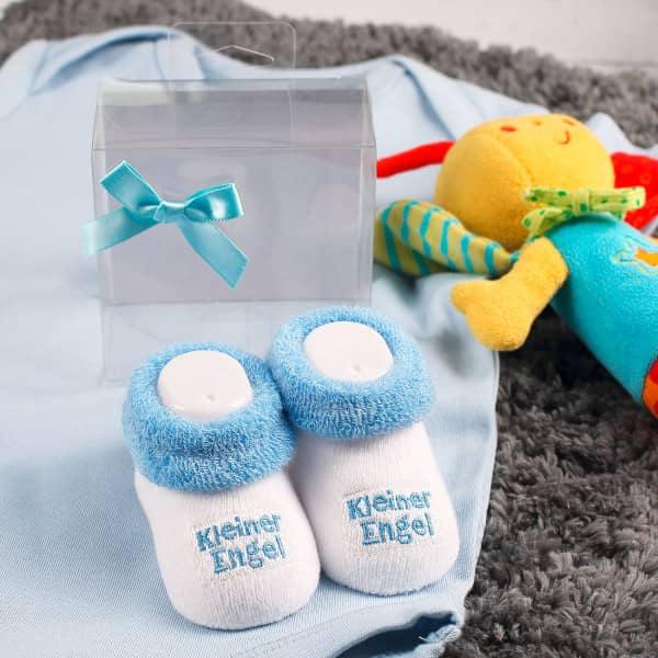 Babysöckchen - in blau - Kleiner Engel