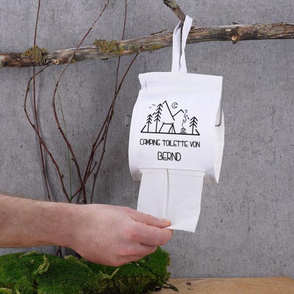 Camping Toilette mit Ihrem Wunschtext