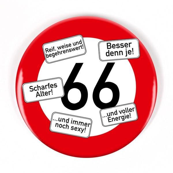 Button zum 66. Geburtstag