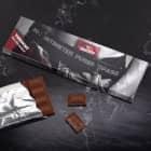 300g Tafel Schokolade mit Wunschname -30cm purer Spaß-