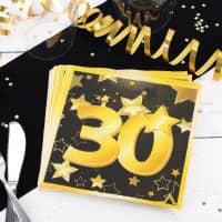 Servietten Star zum 30. Geburtstag