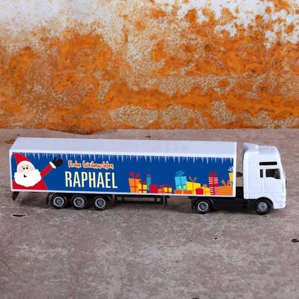 Mini LKW mit Namensaufdruck zu Weihnachten