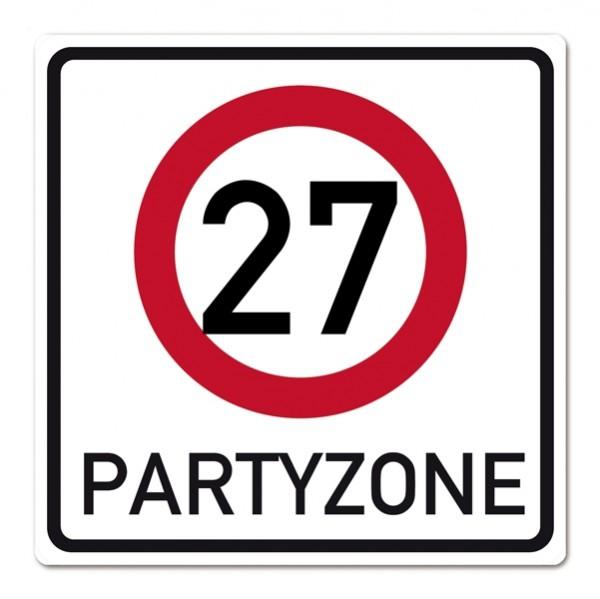 Verkehrsschild aus PVC zum 27. Geburtstag