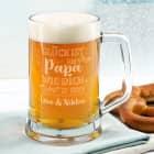 Glück ist, einen Papa wie dich zu haben - Bierkrug mit Gravur