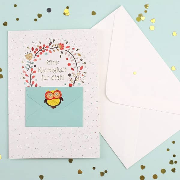 Geschenkkarte mit Geldbrief