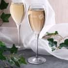 Champagnerglas Prosit Neujahr mit Wunschname