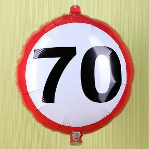 Folienluftballon Achtung 70
