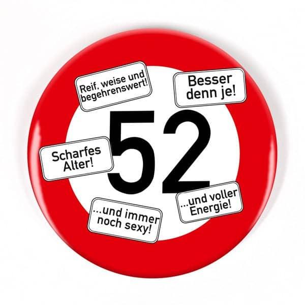 Button zum 52. Geburtstag