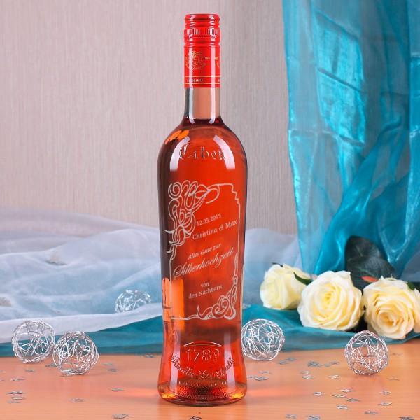 Weinflasche zur Silberhochzeit