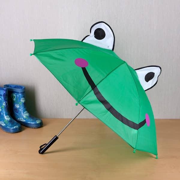Kinder Regenschirm mit Wunschname Frosch