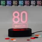 Acryllampe zum 80. Geburtstag mit Name