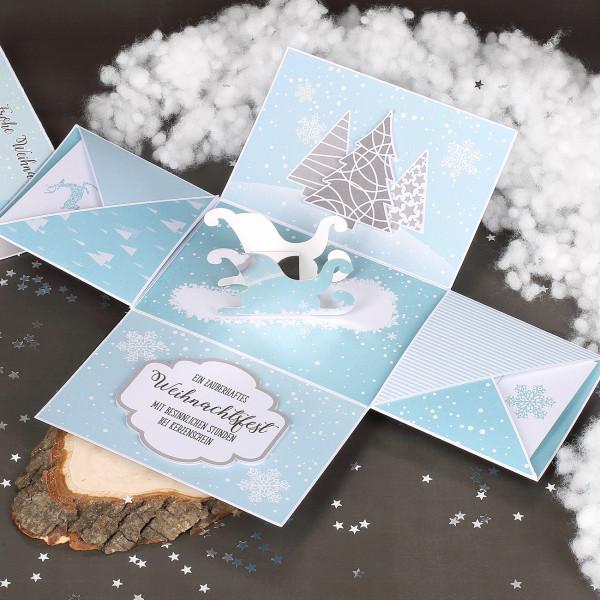 Weihnachten - Überraschungsbox für Geldgeschenk, Gutscheine und Glückwünsche