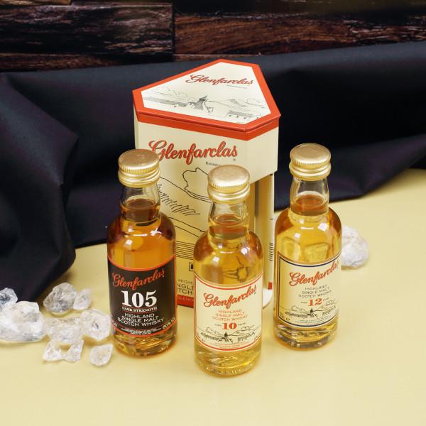 Tolles Glenfarclas Tasting-Set 3 x 50ml