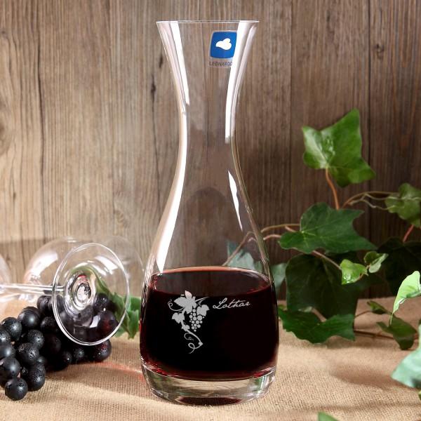 Weinkaraffe von Leonardo mit Gravur Weinranke und Vorname