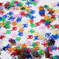 Deko für den Tisch - Zahlenkonfetti 30