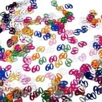 Deko für den Tisch - Zahlenkonfetti 60
