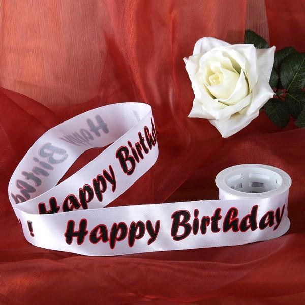 Geschenkband Happy Birthday