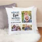 Fotokissen für Opas - Glück ist einen Opa wie dich zu haben - Wunschtext