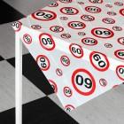 Tischdecke zum 60. Geburtstag mit Verkehrszeichen-Motiv