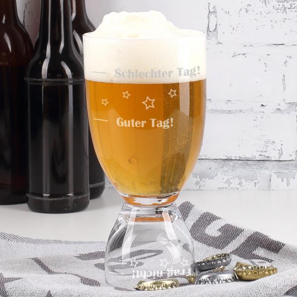 2 in 1 Stimmungsglas mit für Bier und Schnaps
